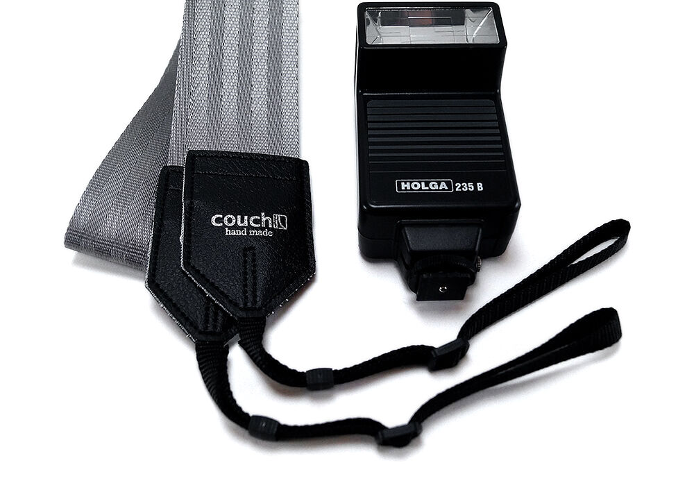Recycled Industrial Silver Camera Strap vegan
